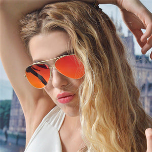 Pilot Oval Sunglasses Women