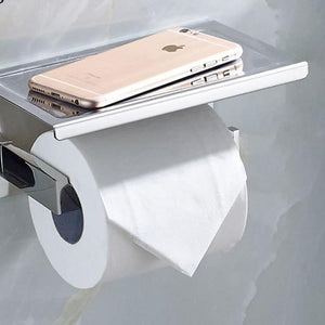 Toilet Paper Holder  With Phone Shelf