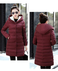 Female Thick Cotton Padded Lining Winter Coat