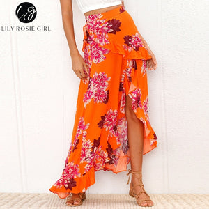 Lily Rosie Girl Floral Beach Long Skirt - Narvay.com