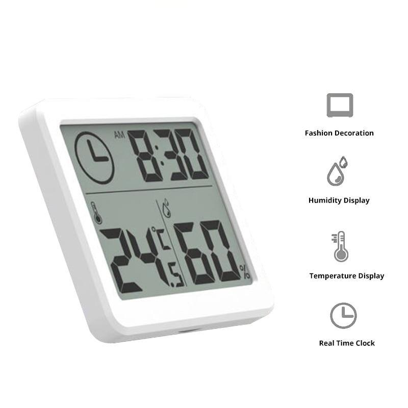 Electronic Temperature and Humidity Monitor Clock