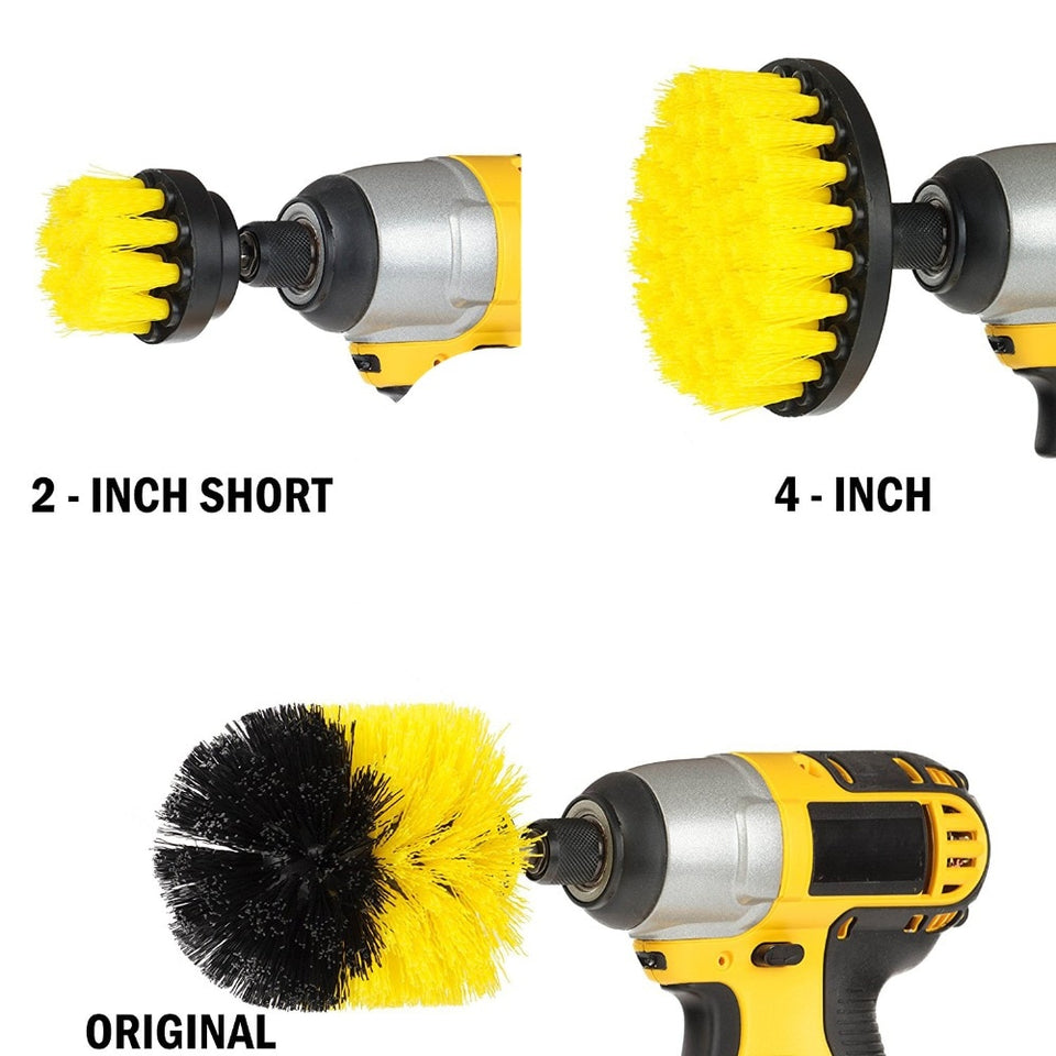 Drill Brush Attachment Set