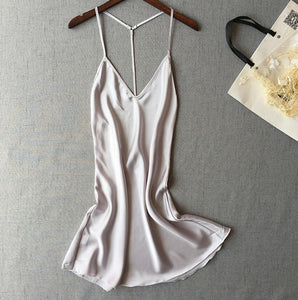 Ladies Sexy Silk Satin Night Dress - Narvay.com