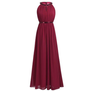 Women Adult Chiffon Long Bridesmaid Dresses
