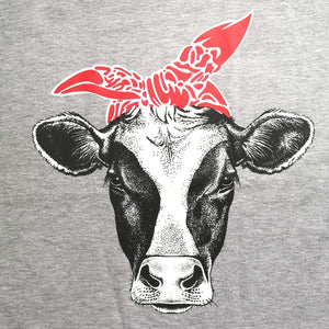 Funny Design Cow Printed T-Shirts