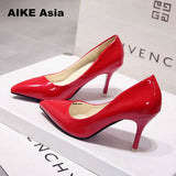 high heels women pumps thin heel classic