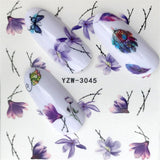 Nail Stickers on Nails Blooming Flower