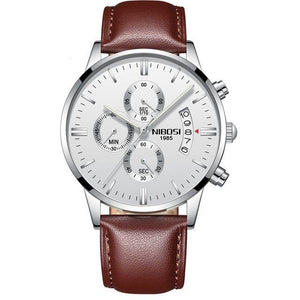 Men Leather Strap Watches Wristwatch