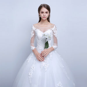 Wedding Dress Boat Neck Gown
