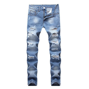 Men Holes Jeans European High Street - Narvay.com