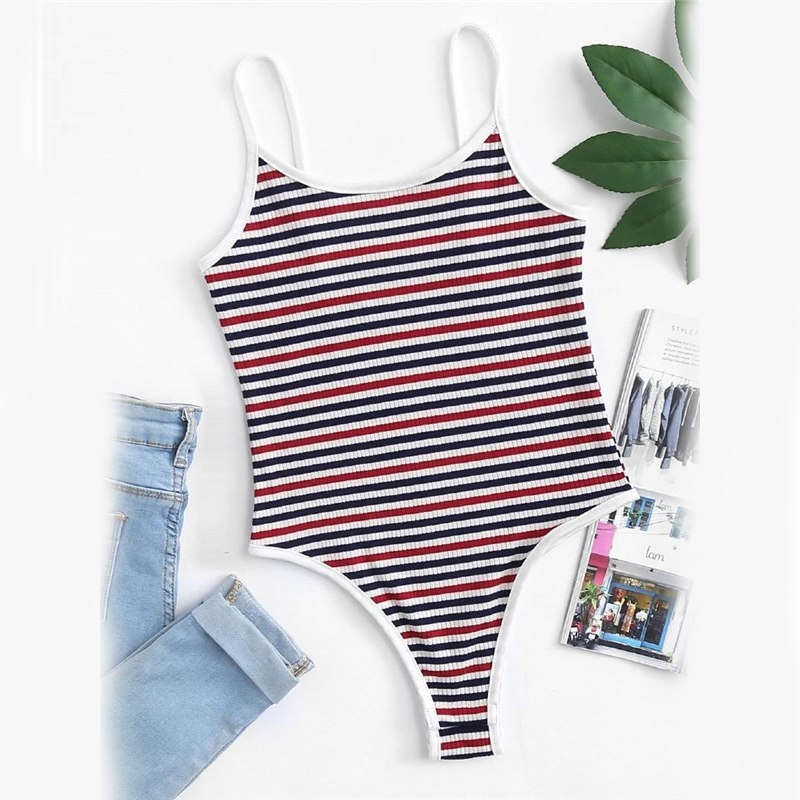 Striped Cami Bodysuit