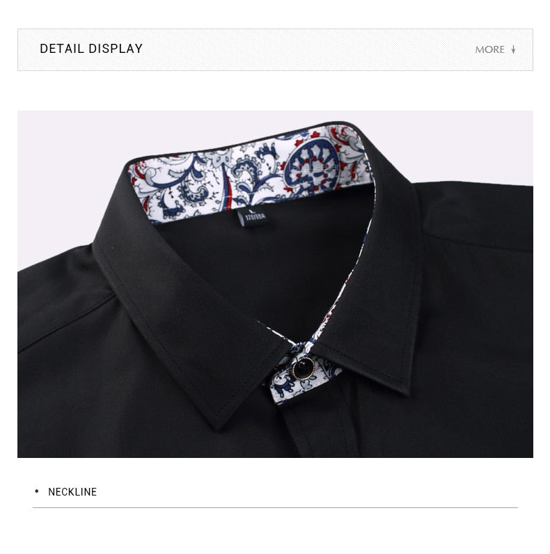 Korean Solid Square Collor Shirts For Men - Narvay.com