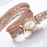 PU Leather Rhinestone Watch Bracelet Watches