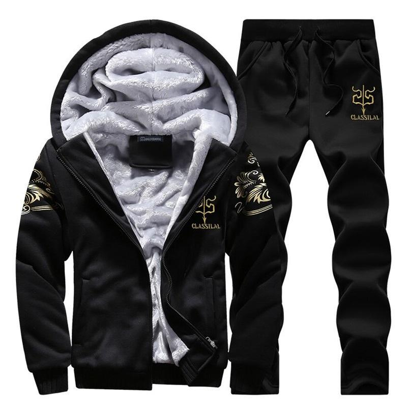 Casual Tracksuit Mens Two Piece Sets
