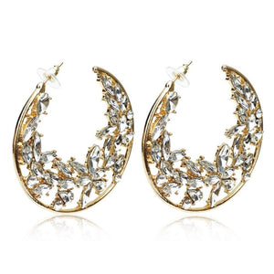 Rhinestones Hoop Earrings For Women