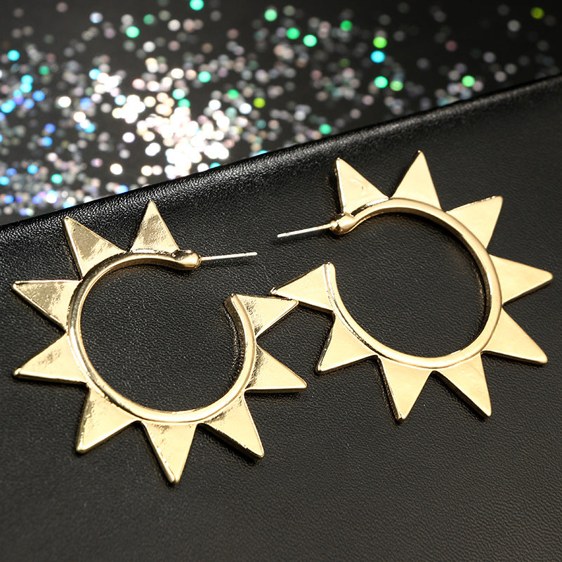 Geometric Hoop Earrings for women - Narvay.com