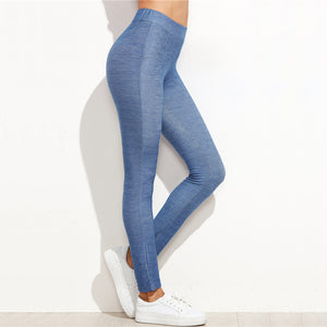Denim Look Skinny Leggings
