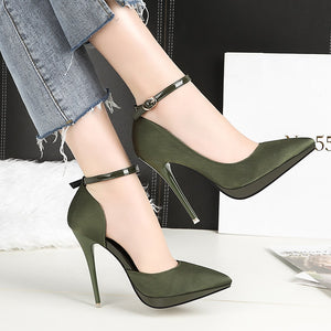High Heels Satin Silk Pumps Elegant