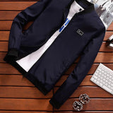 Summer Mens Jacket Stand Collar Windbreaker - Narvay.com