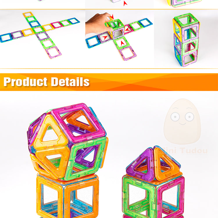Magnetic Blocks Educational Construction - Narvay.com