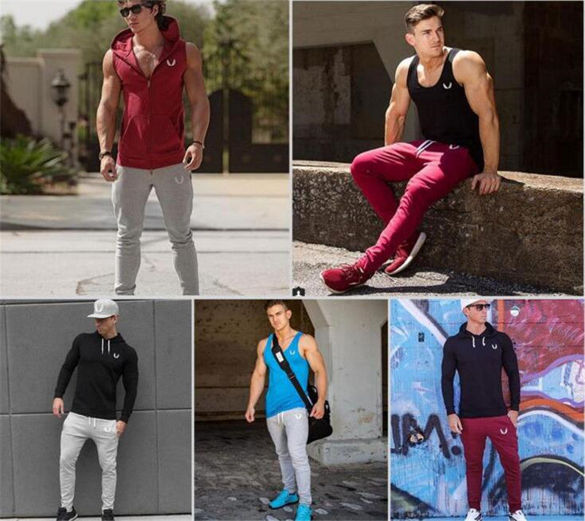 Sportswear Pants Casual Elastic Cotton Mens