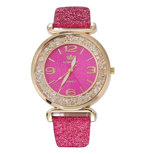 Crystal Stainless Steel WristWatches