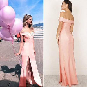 Off Shoulder Casual High Waist Long Maxi Dresses Sexy