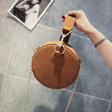 Chain Messenger Bags Small Circle Tote