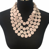 Multilayer Beaded Statement Necklace Womon
