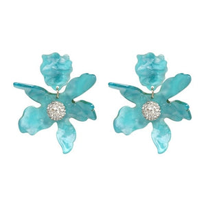 Big Flower Drop Earrings for Women