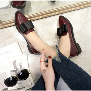 Flats Women Shoes Loafers Patent Leather