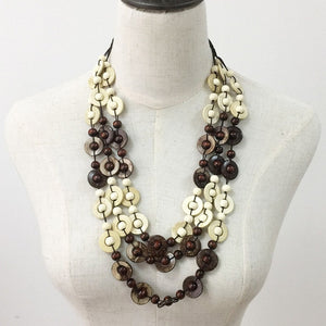 Coconut shell Wood Bead Necklaces Women
