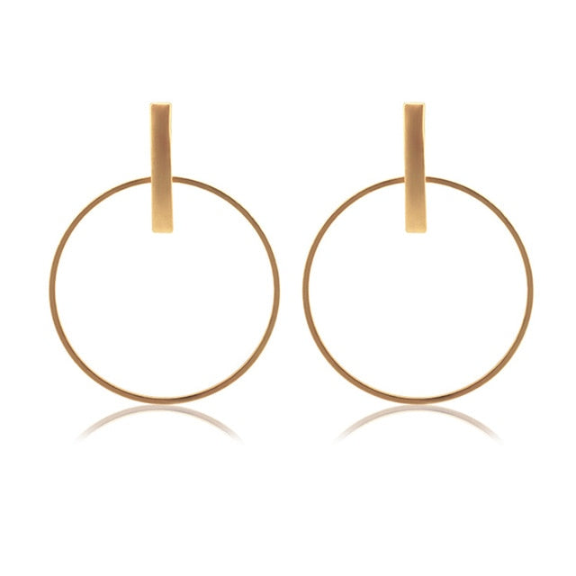 Round Circle Dangle Earrings for Women - Narvay.com
