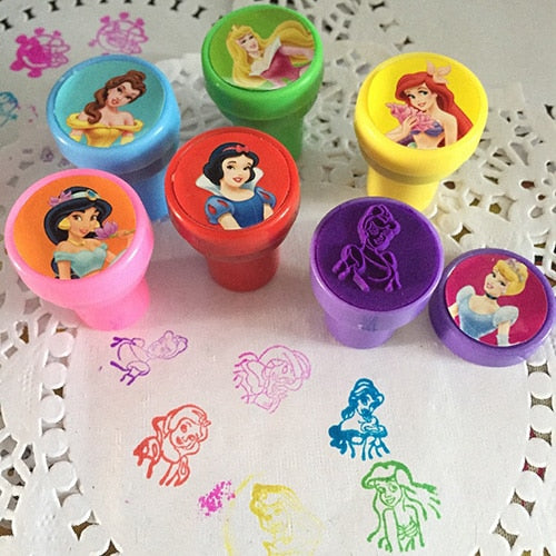 Cartoon Princess Painting Stamps