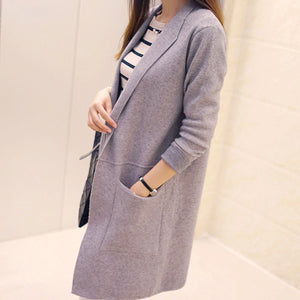 Women Long Sleeve Cardigan Sweater Knitted Cardigans