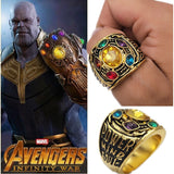 Avengers Infinity War Thanos Infinity Gauntlet Power Cosplay Alloy Ring Jewelry - Narvay.com