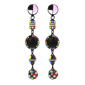 Multicolor Beads Statement Earrings