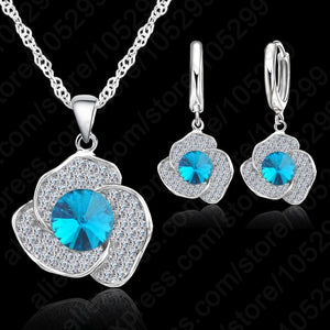Sterling Silver Necklace/Earring Jewelry Set