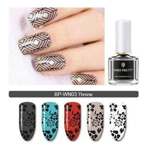 Gold Silver Nail Art Plate Stamp Oil