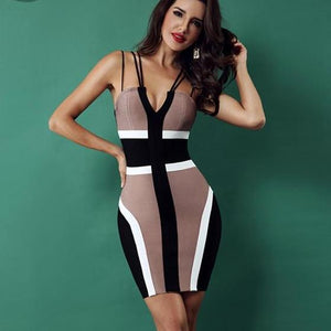 Spaghetti Strap V-Neck Backless Dress