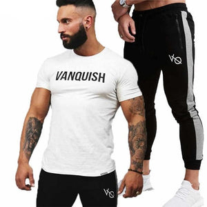 Male Tracksuit Suit Sets Men