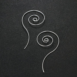 Swirl Spiral Hoop Earrings For Women Simple Round