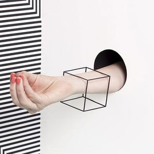 3D Cube Cuff Bangle Bracelets For Women - Narvay.com