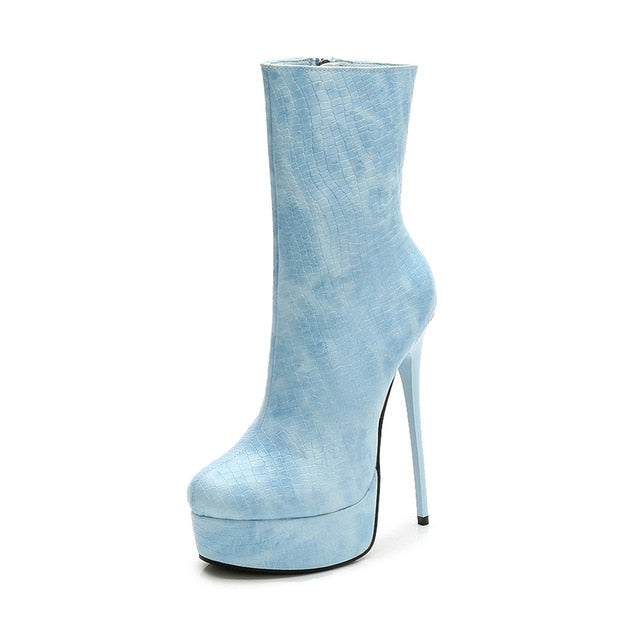 Ankle Boots Women Platform Super High Heel - Narvay.com