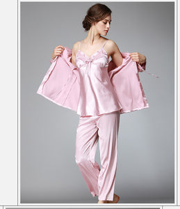 Sleep Lounge Elegant Satin Sleepwear