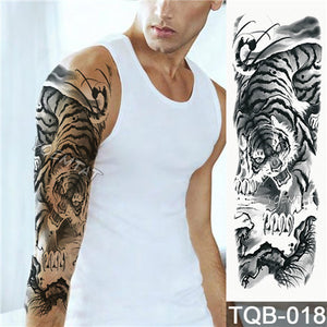Large Arm sleeve Tattoo Waterproof