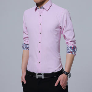 Korean Solid Square Collor Shirts For Men