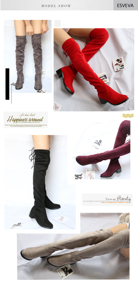 Women Shoes Lace Up Sexy Boots