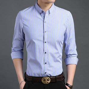 Man Stripped Dress Shirts