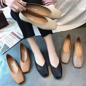 Women Flats Soft Leather Ballet